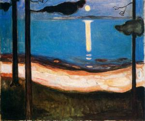 Moonlight by Edvard Munch